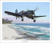 Corsair Takeoff by Mark Karvon - VF-17 Jolly Rogers