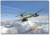 HEINZ BAR by Jim Laurier - Me-262 - P-47s  Aviation Art