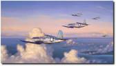 Wounds of War by Jim Laurier - Marines Corsair  Aviation Art