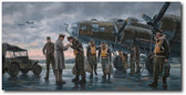 Coming Home, England 1943  Aviation Art