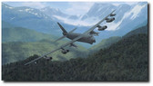 Mountain Fortress by Dru Blair - B-52 Stratofortress  Aviation Art