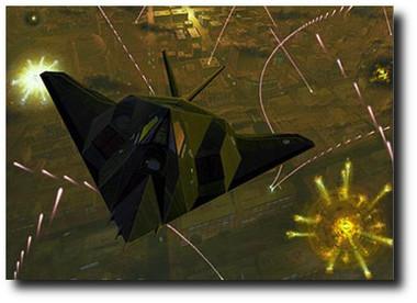 Night Knight by Andrew Probert - Lockheed F-117 Stealth Fighter Aviation Art