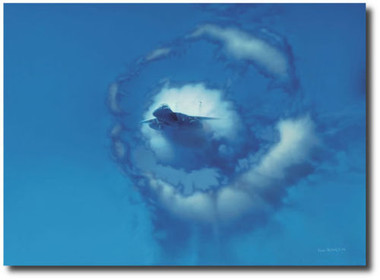 Eye of the Eagle by Dru Blair -  F-15E Strike Eagle Aviation Art