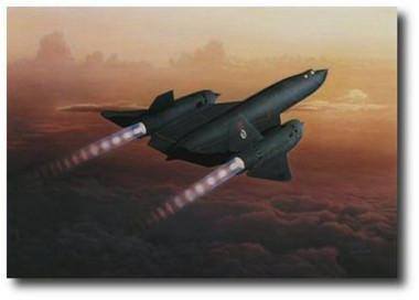 Final Ascent by Dru Blair - Blackbird # 972 Aviation Art
