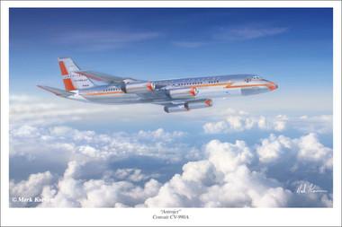 Astrojet by Mark Karvon - Convair 990 Aviation Art