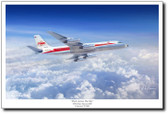 Flask Across The Sky by Mark Karvon - Convair 880 Aviation Art