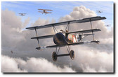 God of The North Wind by Russell Smith - Fokker triplane 450/17 - Aviation Art