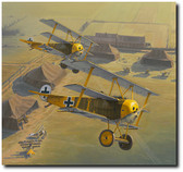 Yellow Jackets by Russell Smith - Jasta 27 - Aviation Art Print