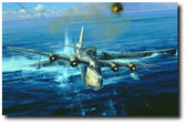 Caught On The Surface by Robert Taylor - Sunderland 'U'  Aviation Art
