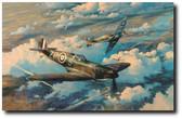 Height Of The Battle by Robert Taylor - Luftwaffe He111 bombers Aviation Art