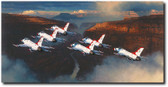 Thunder In The Canyon by William S. Phillips - Thunderbirds Aviation Art