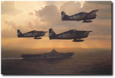 And Now the Trap by William S. Phillips -  F-6 Hellcats Aviation Art