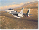 Advantage Eagle by William S. Phillips - McDonnell Douglas F-15 Eagle Aviation Art