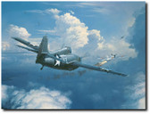 When You See Zeros, Fight Em by William S. Phillips - Grumman F4F Wildcat  Aviation Art