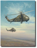 Choctaw Afternoon by William S. Phillips - Sikorsky UH-34