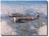 Not My Turn To Die by Jim Laurier - P-47C Thunderbolt Aviation Art