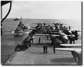 B-25's On The USS Hornet - B-25 Liberator Aviation Art
