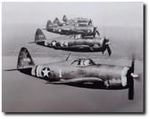 P-47 Formation Aviation Art