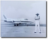 """R.A. """"BOB"""" Hoover With His Sabreliner - Aviation Art"""