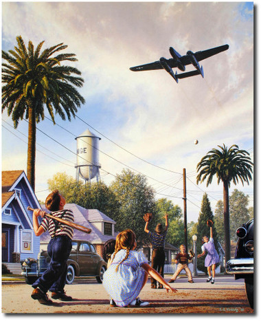 The Spider and the Fly w/ Pilot Signature by Stan Vosburg - P-61 Black Widow -Aviation Art