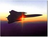 SR-71 Blackbird with Sunset - aviation art