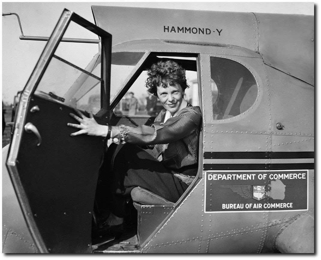 Aviation Art /& Gifts Amelia Earhart with goggles Remastered 8 x 10 Photo