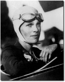 Amelia Earhart with goggles PHOTO -Aviation Art