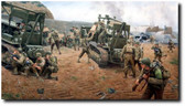 Clearing the Vierville Draw (A/P) by Larry Selman - D-Day - WWII Military Print - Aviation Art