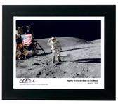 Apollo 16 Charles Duke on the Moon Signed by Astronaut Charlie Duke Aviation Art
