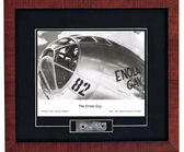 Enola Gay Print with B29 skin Signed by Navigator Dutch Van Kirk  Aviation Art
