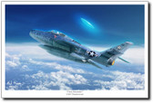 Close Encounter by Mark Karvon - F-84F Thunderstreak
