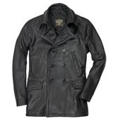 Vintage Leather Naval Officers Coat