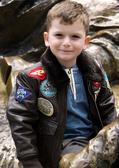 """Real Leather"" Kids Top Gun G-1 Jacket"