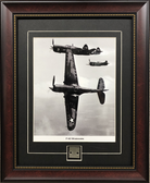 P-40 Warhawk in formation print framed