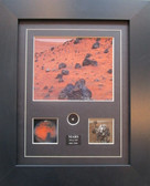 Framed Mars Images with Meteor Specimen