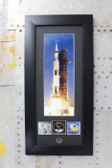 Apollo II Saturn V photos with Authentic kapton foil piece
