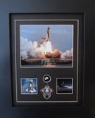 Atlantis STS-135 Signed by Chris Ferguson w/ Relic -