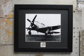 Republic P-47 Thunderbolt fighter aircraft framed photograph USAAF