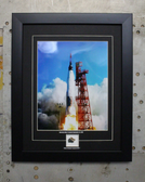 Mercury -Atlas framed printed matted to include flown isulation