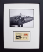 Chuck Yeager with Glamorous Glennis - Signed Airmail Postcard