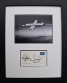 Chuck Yeager with Bell X-1 in Flight - 50th Anniversary of AF Envelope