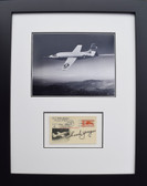 Chuck Yeager with Bell X-1 in Flight - with Signed Airmail Postcard
