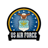 Air Force Round Banner Metal Sign