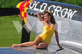 """Brooke"" with the P-51 Mustang"