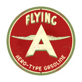 Flying A Original Round Metal Sign