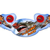 Flying Tigers Winged Oval Metal Sign