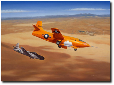 """""""Hey Pard, You'll get a Free Steak at Pancho's Tonight"""" by Mike Machat - Bell X-1"""