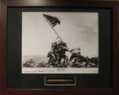 Iwo Jima Flag Raising signed by survivor Mahlon Fink