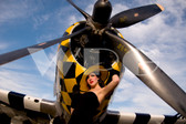 """Jenna"" with the P-47 Thunderbolt"