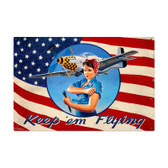 Keep Em Flying Metal Sign